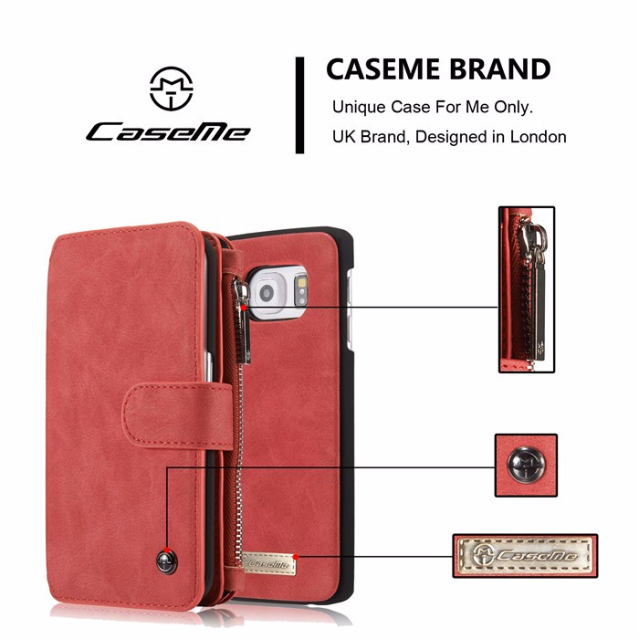 Wallet case For Samsung Galaxy S6 S6 Edge Edge Plus Genuine Leather Phone Case Bag Multi-functional Back Cover 14 Cards Holder (6)