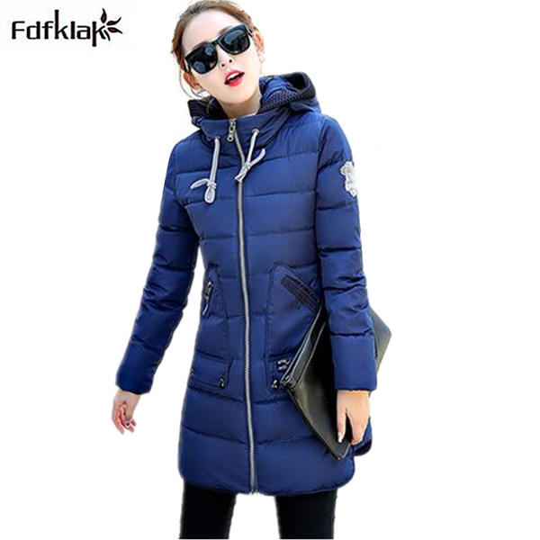 7XL-XL Plus size women winter jacket thicken warm coat female hooded slim cotton coat 2017 fashion women's jackets parkas winter jacket female parkas hooded fur collar long down cotton jacket thicken warm cotton padded women coat plus size 3xl k450