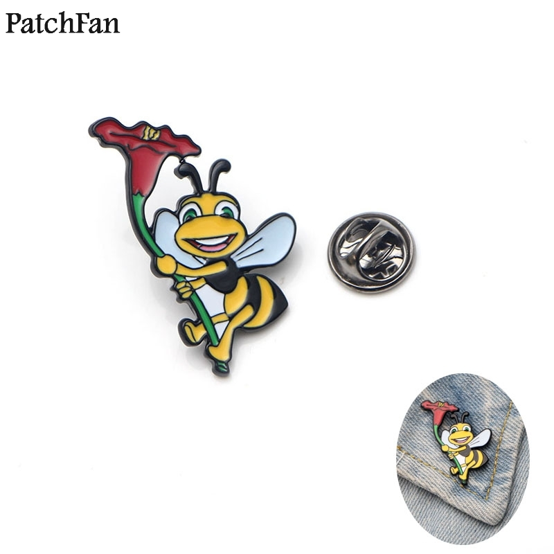 Apparel Sewing & Fabric Humorous 20pcs/lot Patchfan Bees Zinc Tie Cartoon Funny Pins Backpack Clothes Brooches For Men Women Hat Decoration Badges Medals A1209 Arts,crafts & Sewing