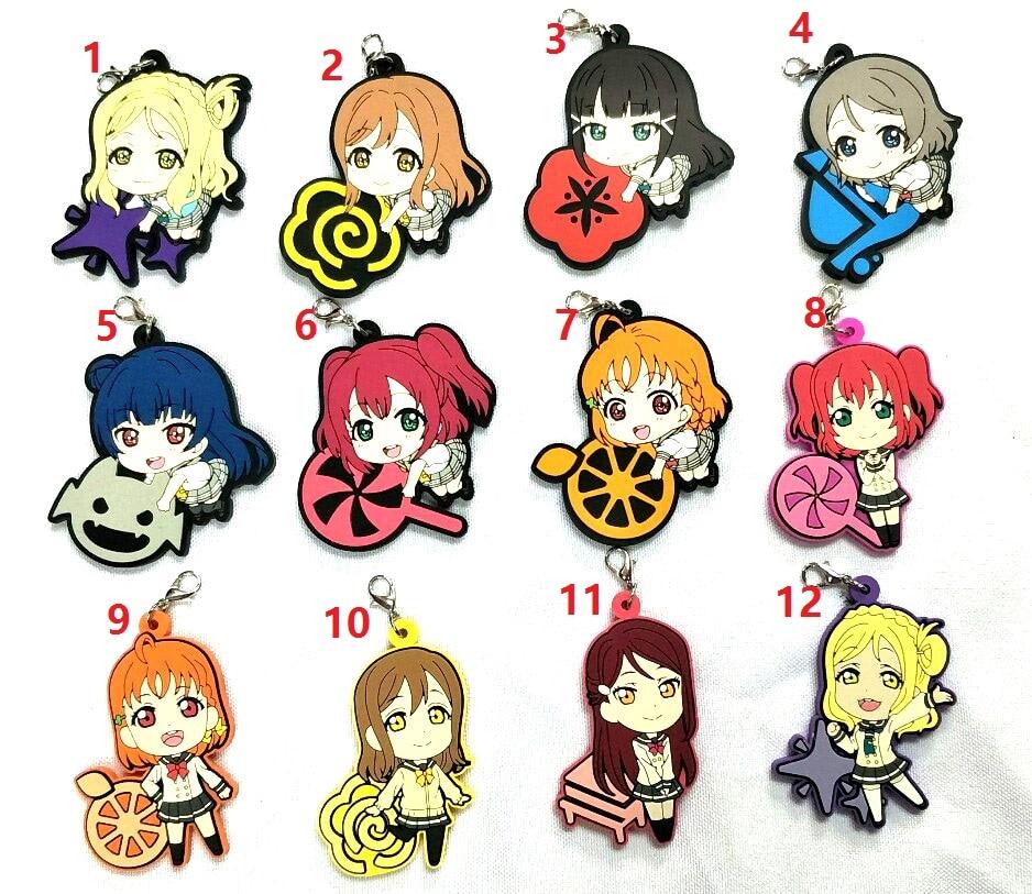 Anime Rubber Strap Charm Keychain Keyring Nishikino Maki Love Live Lovelive