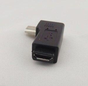 10 шт. микро 5-контактный USB штекер к гнезду USB 2,0 адаптер с прямым углом
