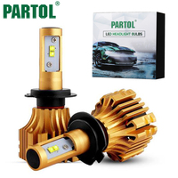 Partol H4 H7 H11 LED Auto Koplamp Lamp Fog Lights Auto hoofd Lamp Hi-Lo Beam 70 W 7000LM 6500 K 12 V 24 V Voor offroad Truck 4x4