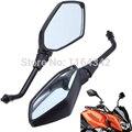 Preto Universal Motocicleta Espelho Retrovisor de moto M10 Espelho Lateral Para Honda Yamaha Suzuki Motos Acessórios