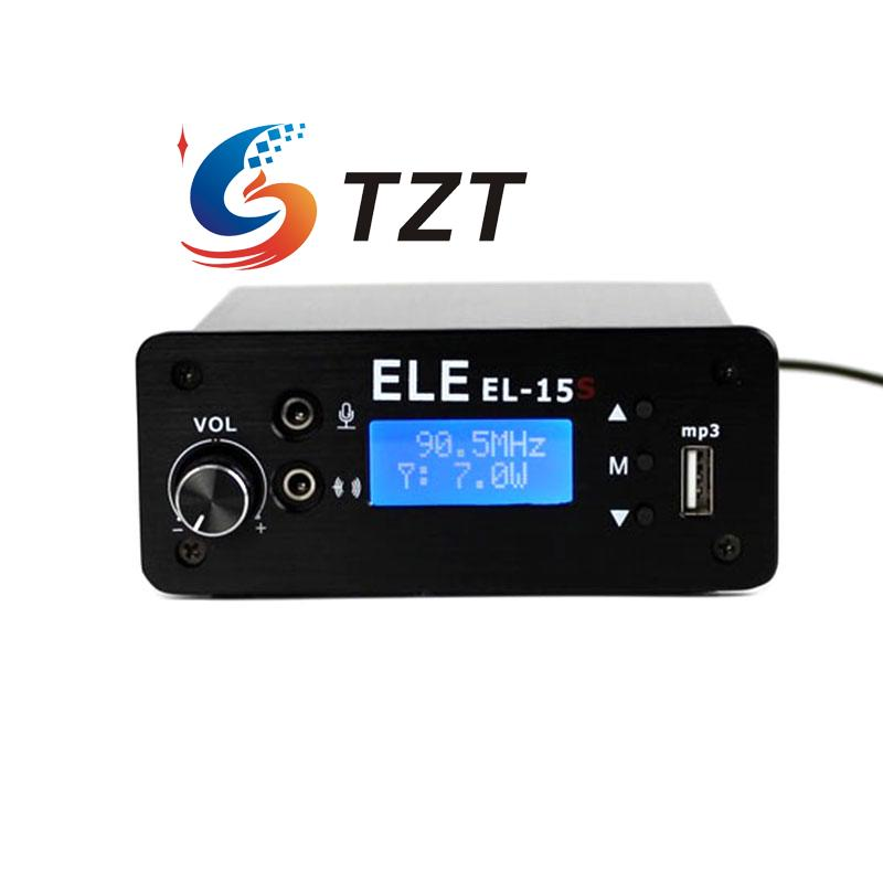Wireless FM Transmitter Stereo LCD Broadcast Radio Station 1W to 7W U Disk Audio MP3 Player