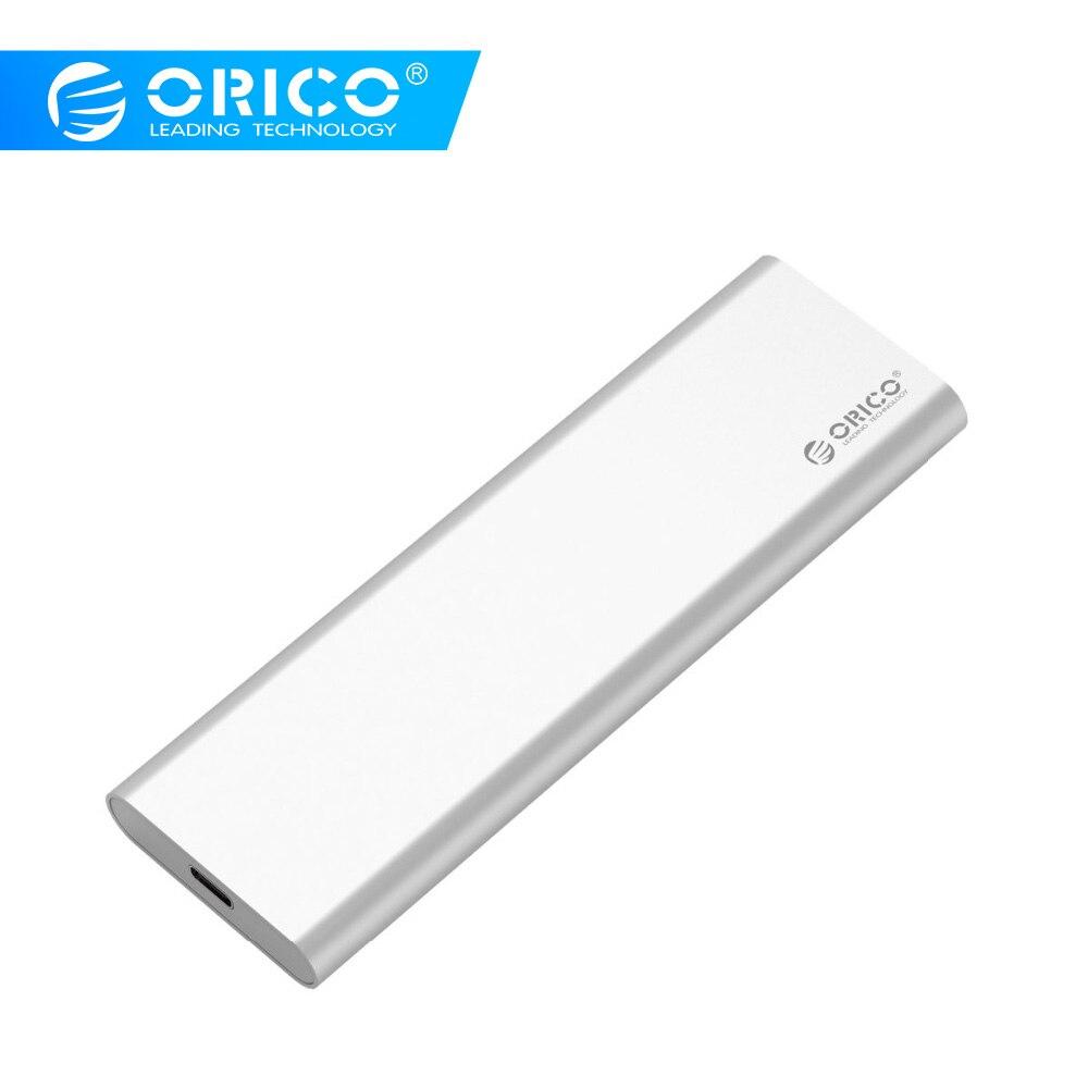 ORICO Dual-bay Type-C USB3.0 10Gbps Gen2 MSATA SSD Enclosure Support Raid 0 Raid PM 4TB Max Compatible With Windows/Linux/Mac