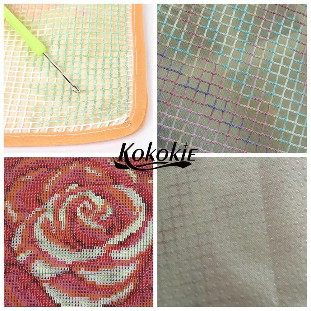 Diy breien naald kits voor tapijt borduren garen haak tapis klink haak kits tapijt tapestry kits hond gedrukt kussen mat