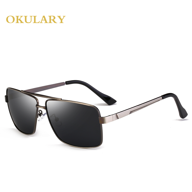 2018 Men Polarized Mirror Sunglasses Black Tea Color UV400 With Box Free Shipping