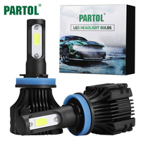 Partol S5 H11 H8 H9 Car LED Headlights 72W COB Auto LED Headlight Bulbs 6500K Headlamp
