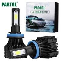 Partol S5 H11 Auto LED Koplampen 72 W COB LED H4 H7 H1 Koplampen 6500 K Koplamp voor Toyota/VW/Hyundai/Kia/Chevrolet/Mazda