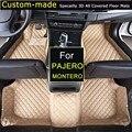 Esteiras do assoalho do carro para mitsubishi pajero montero v73 v77 v93 personalizado pé tapetes 3d auto tapetes feitos sob medida especialmente