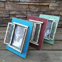 Shutters Photo Frame Vintage Old Solid Wood Creative Home Photo Studio Decorative Props Photo Set Of Crafts Picture Frame