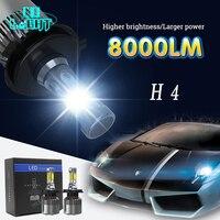 CO LIGHT LED Headlight 72W Lot S2 H4 COB 16000LM Car Styling LED Headlights Bulb Fog