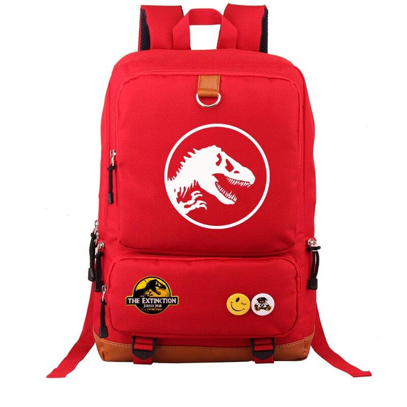 Image 2 - Multicolor Jurassic Dinosaur Skull Skeleton Boy Girl School bag  Women Bagpack Teenagers Schoolbags Canvas Men Student  BackpackBackpacks