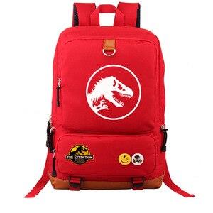 Image 2 - Multicolorido jurássico dinossauro crânio esqueleto menino menina saco de escola mulheres bagpack adolescentes mochilas lona mochila estudante