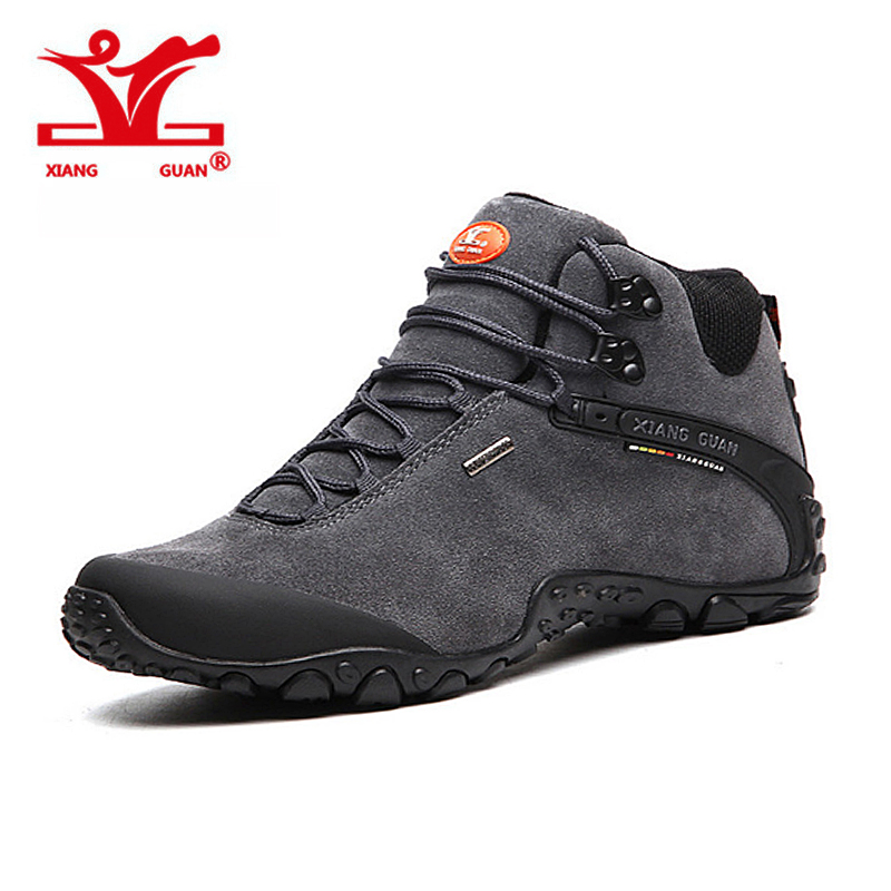 XIANGGUAN New Genuine boots waterproof hiking shoes boots Anti-skid Wear resistant breathable fishing shoes climbing high shoes new hot sale children shoes comfortable breathable sneakers for boys anti skid sport running shoes wear resistant free shipping