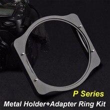 Кольцо адаптер Zomei 49/52/55/58/62/67/72/77/82 мм + металлический квадратный держатель фильтра с 3 слотами, комплект для фильтров Cokin P серии 83 мм