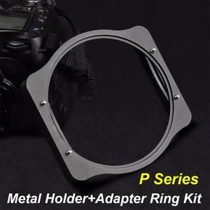 Image 1 - Zomei anillo adaptador de 49/52/55/58/62/67/72/77/82mm + soporte de filtro de 3 ranuras cuadradas de Metal, Kit de soporte para filtro Cokin P Series 83mm
