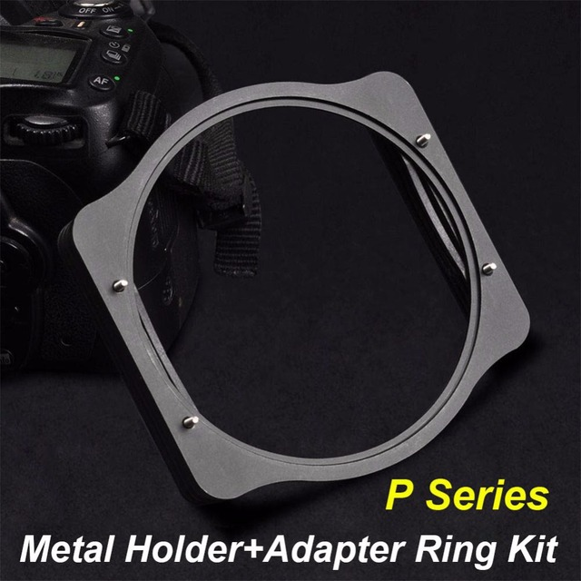 Zomei anillo adaptador de 49/52/55/58/62/67/72/77/82mm + soporte de filtro de 3 ranuras cuadradas de Metal, Kit de soporte para filtro Cokin P Series 83mm