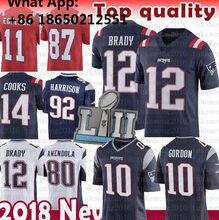 58e18bfd New 12 Tom Brady Patriots 10 Josh Gordon Jersey 87 Rob Gronkowski 92  Harrison 80 Danny