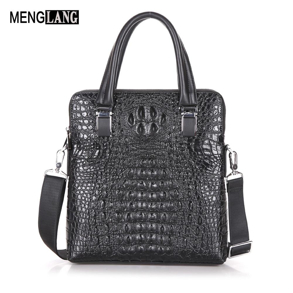 Genuine Leather Men Crossbody Bags Fashion Handbags Male Alligator Man Messenger Shoulder Bag Casual Men's Business Bags