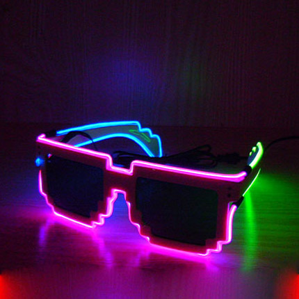 free shipping 10pcs/lot 8 bit pixel lighting el led glasses Creative LED eyeglasses glow in dark for Event and Party Suppliesfree shipping 10pcs/lot 8 bit pixel lighting el led glasses Creative LED eyeglasses glow in dark for Event and Party Supplies