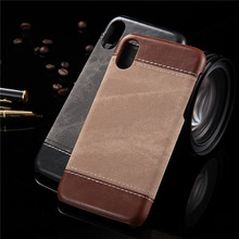 KINGMAS Denim leather PU+PU mobile phone case for iphone 5 SE 6 6S 7 8 plus X protective sleeve soft silicone protective cover