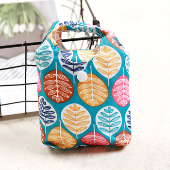 Oxford Foldable Shopping Bag Maple leaves Eco Foldable Handy Reusable Tote Pouch Recycle Storage Bag Folding Shopping pocket tropical leaves tote bag