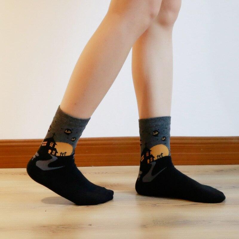 1Pair Cartoon Women Socks for Halloween Soft Cotton Warm Men Socks Hosiery Party Birthday Gift in Socks from Underwear Sleepwears