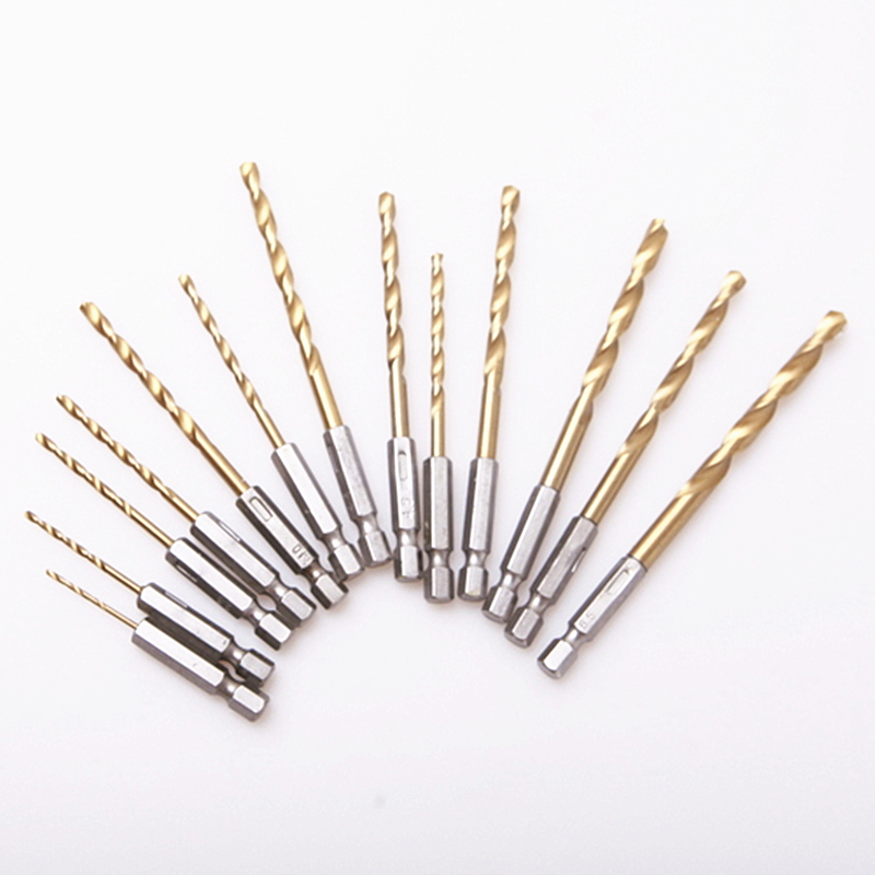 HSS 13Pcs / Set Set di punte elicoidali per sega Set in acciaio - Punta da trapano - Fotografia 4
