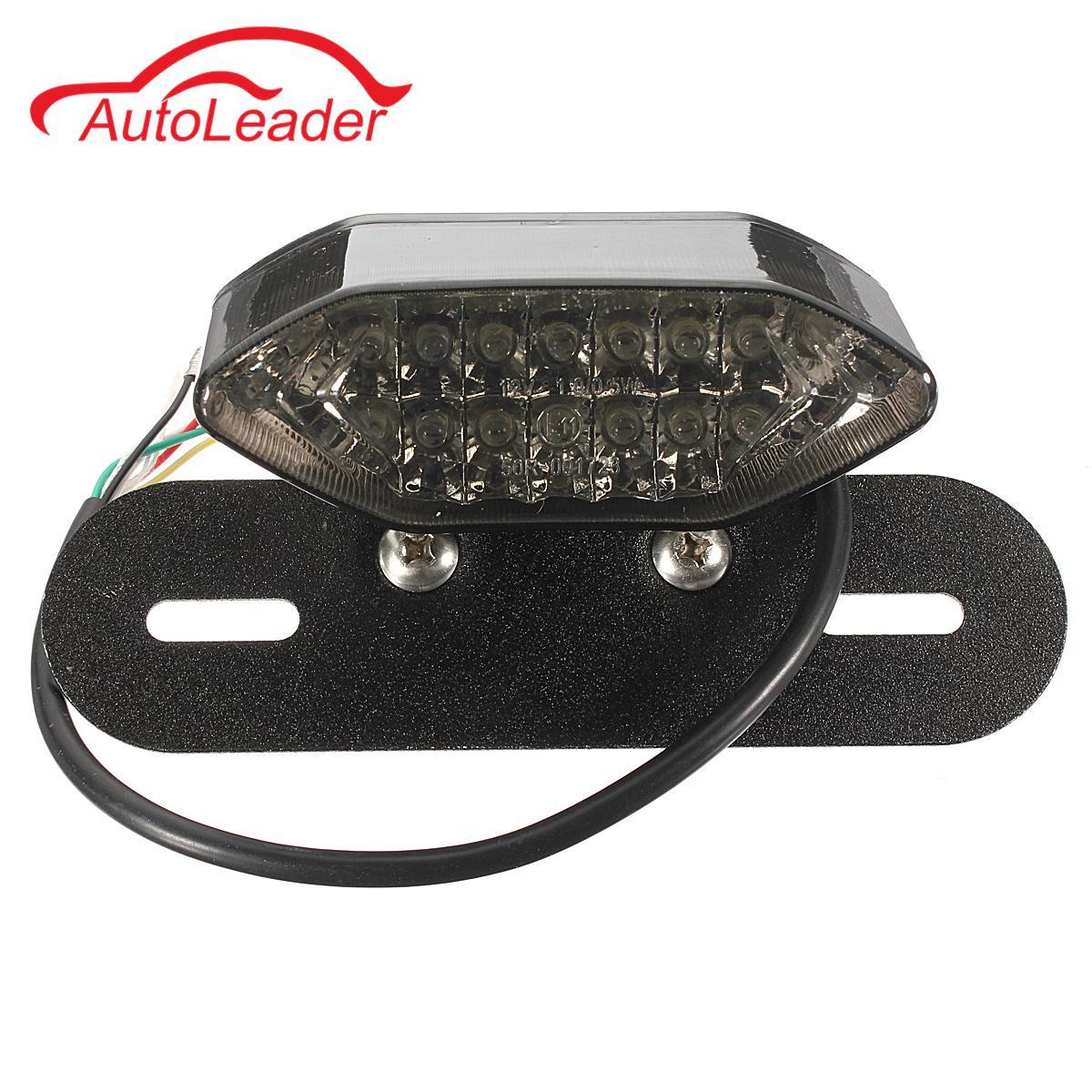 Motorcycle Quad ATV 16 LED Tail Light Turn Signal Indicator License Plate Lamp