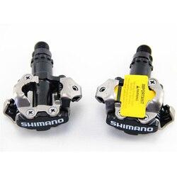 Shimano MTB rower górski zatrzaskowy PD M520 pedały i korki box M520 samoblokujący pedał w Pedały rowerowe od Sport i rozrywka na