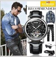 Binger Luxury Brand Watch Classic Men Waterproof Automatic Mechanical Men Watch Business Full Steel Bracelet Wristwatch