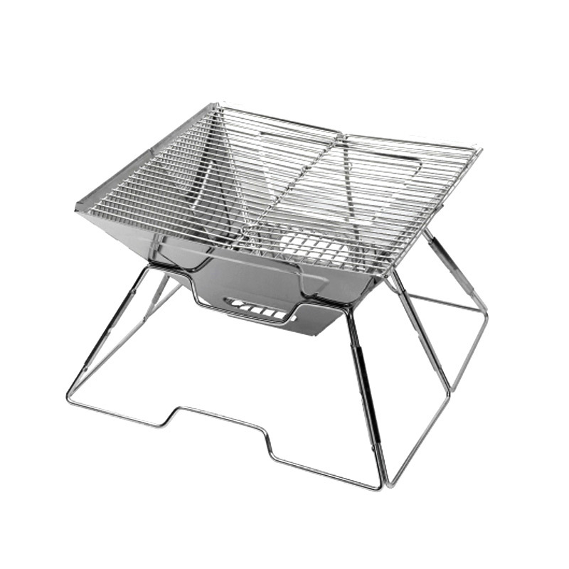 Outdoor stainless steel multi-function grill Folding picnic multiplayer charcoal barbecue stoveOutdoor stainless steel multi-function grill Folding picnic multiplayer charcoal barbecue stove