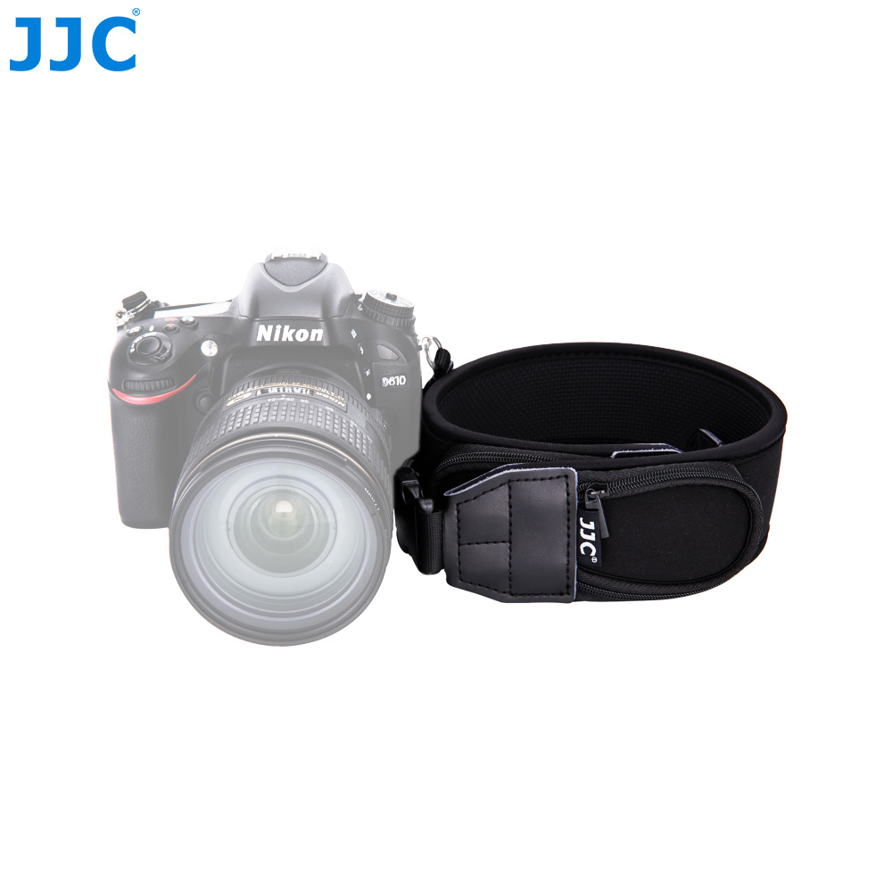 JJC Quick-Release Neck Strap with Pouch DSLR Wide Shoulder Straps Camera Neck Belt For Canon Nikon Sony Pentax