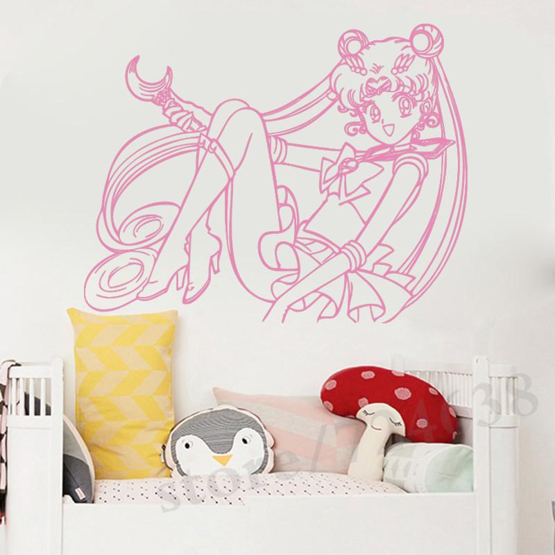 Details about  /3D Sailor Moon 394RAI Anime Combine Wall Sticker Wall Murals Wallpaper Amy
