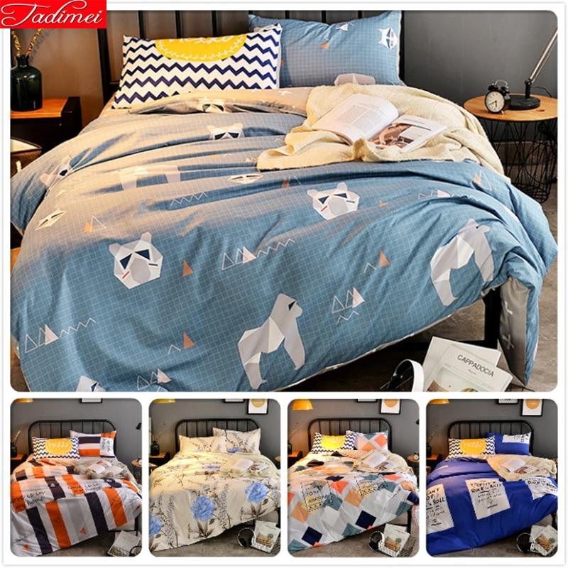 Power Source Careful Aole Cotton Bedlinens 3/4 Pcs Bedding Set Kids Bedclothes 1.5m 1.8m 2.0m 2.2m Flat Sheet Duvet Cover King Queen Twin Double Size Removing Obstruction