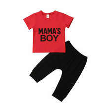 Baby Boy Letters Cotton Clothes Set Toddler Kids Babies Boys T-shirt Tops Hip-Hop Pants 2PCS Outfits Clothing Sets 0-4T 2019 2017 new fashion print baby boys t shirt hip hop dance harem pants boy 4 6 8 10 12 14 year sport clothes suits kids clothing set