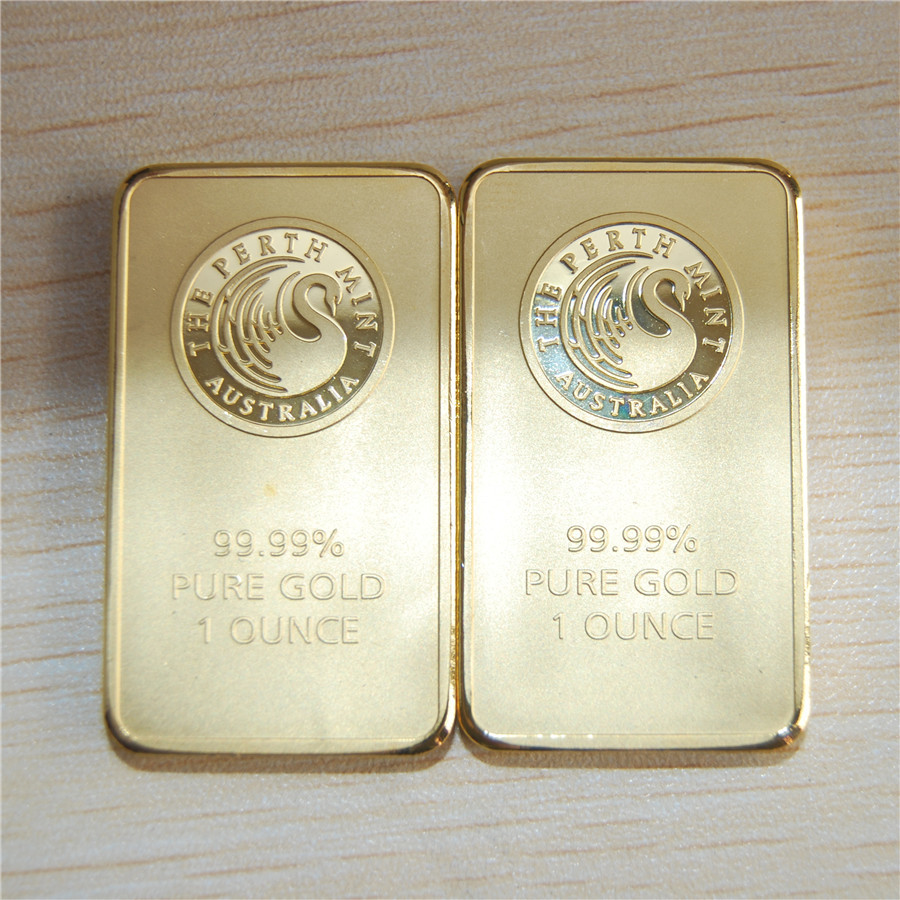 5pcs Lot Free Shipping 1oz Perth Mint Gold Bar Black Swan
