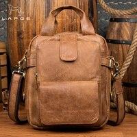 Lapoe 2017 Пояса из натуральной кожи Для мужчин маленькая сумка на плечо Сумки через плечо Для мужчин Курьерские сумки Для мужчин кожаная сумка