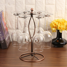 цены Creative Metal Wine Rack Hanging Wine Glass Holder Bar  Bracket S-shaped goblet holder free shipping