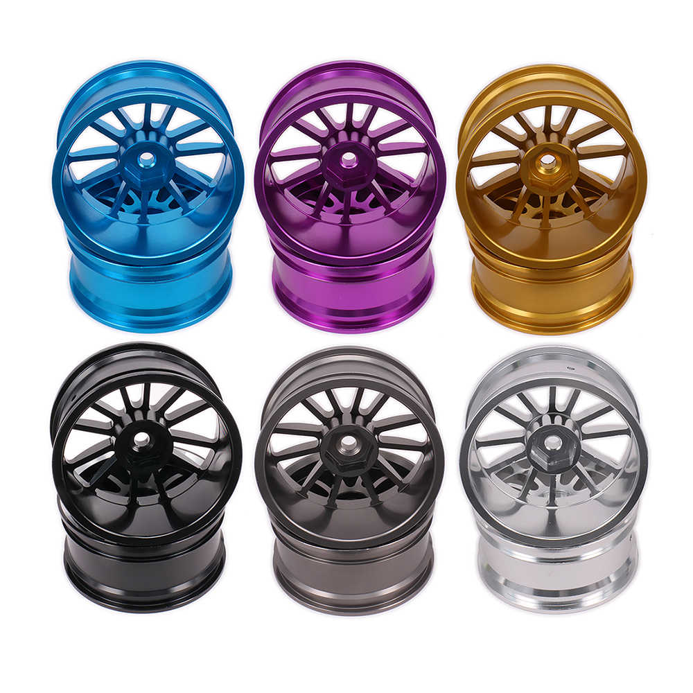 2 STUKS Aluminium 12 Spoke Velg w/o Band band Voor Rc 1/10 On-Road Racing Auto crawler Hop-Up Onderdelen HSP Axiale Wltoys Himoto HPI