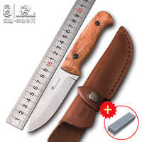 HX OUTDOORS TD-08 survival outdoor tactical knife, straight knife survival jungle, high hardness knife AUS-8 BLADE