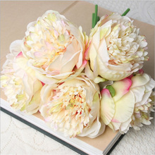 5 Heads Artificial Flowers Peony Bouquet Party Home Garden Office Creative Clean