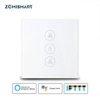 Zemismart EU US Alexa Google Home Smart Ceiling Fan Switch Wifi APP Timer Speed Group Control Speed Regulation Home Wall Switch