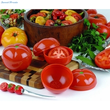 Sweettreats Tomato Saver Plastic See Through Container Holder – Bulb Shaped Fresh and Moist Storage -Assorted