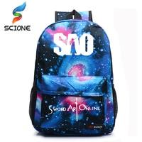 Sword Art Online Backpack Japan Anime Printing School Bag For Teenagers Cartoon Travel Bag Nylon Sports