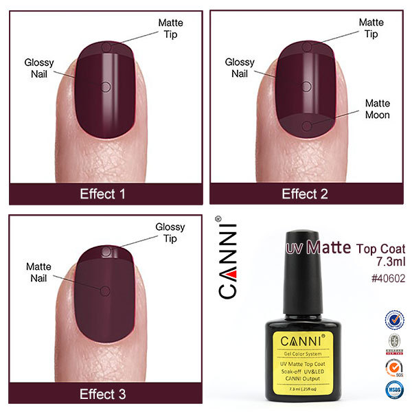 CANNI Base Coat Topcoat High Glossy Tempered No-wipe Matt Top UV LED Foundation Gel Long Lasting Color Lacquer Nail Gel Polish 4