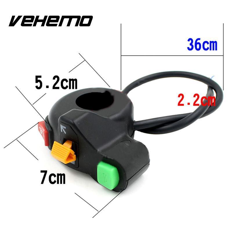 Vehemo Hot 3 in 1 Motorrad Schalter Licht Motorrad ATV Bike Scooter ...