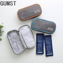 Оксфорд Портативный диабетический инсулиновый мешок-холодильник тепловой inusulted маленькая классная коробка для путешествий изоляционный чехол для упаковки льда свежая Сумка-переноска