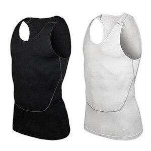 Mężczyźni pod koszulą skóra Body bandaż kompresyjny warstwa podstawowa kamizelka bez rękawów odzież sportowa